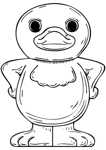 Cartoon Duck coloring page
