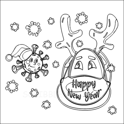 Chinese New Year 2021 coloring page