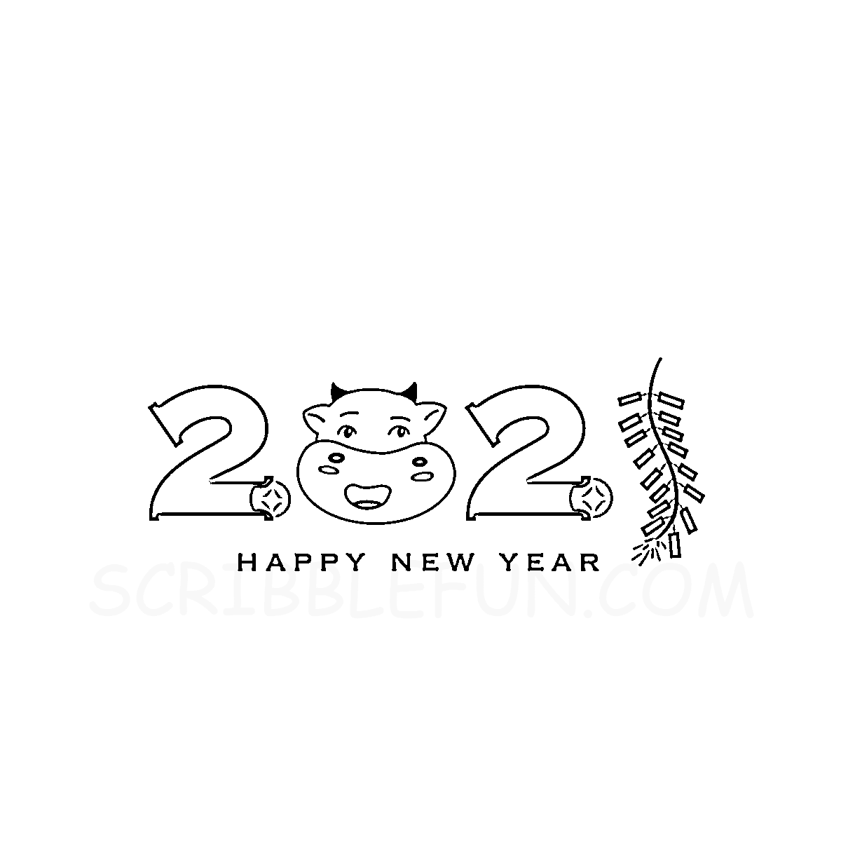 Chinese New Year 2021 coloring pages