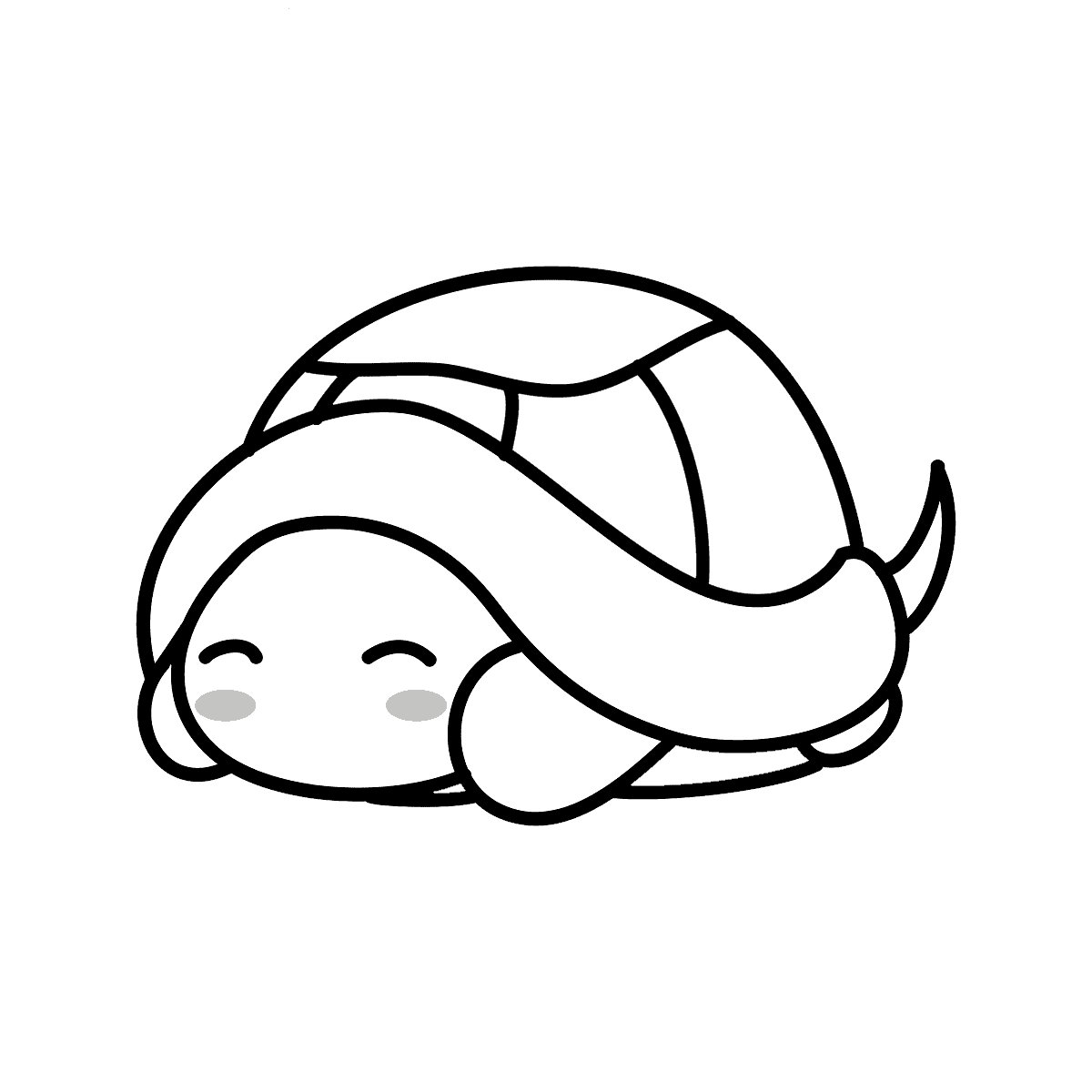 Cute turtle coloring page