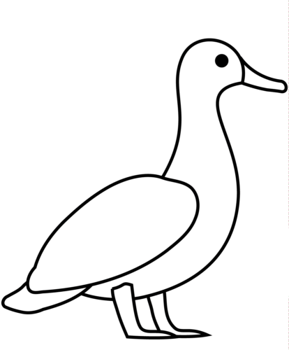 Duck coloring page for preschoolers