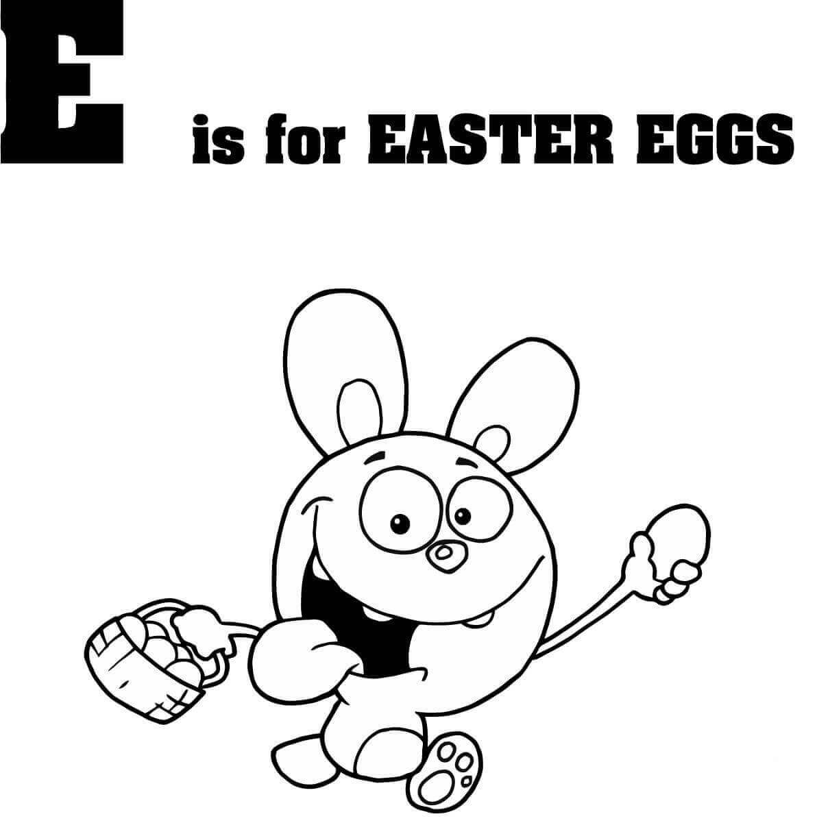 E is for Easter eggs