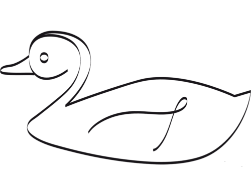 Easy duck drawing