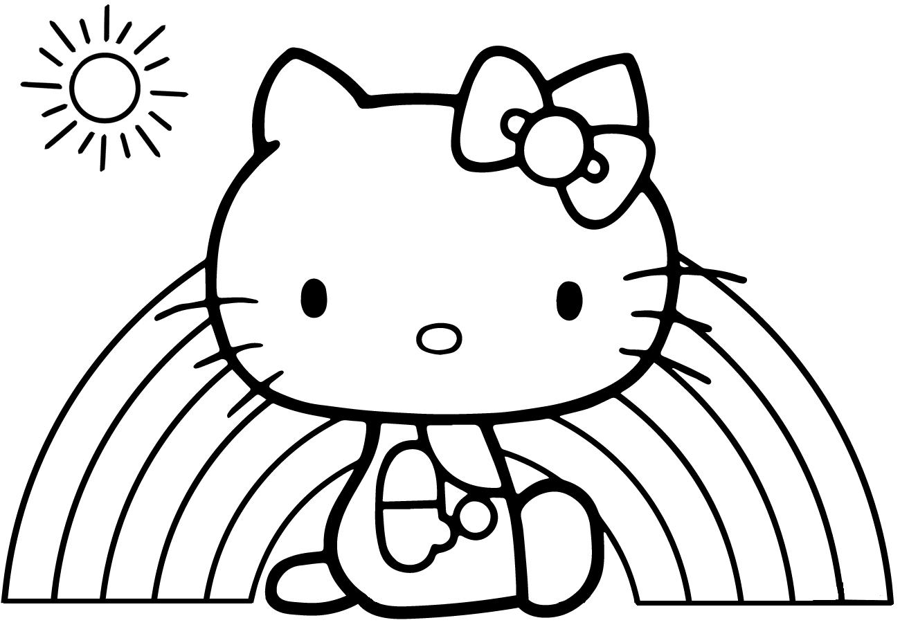 Hello Kitty by the Rainbow