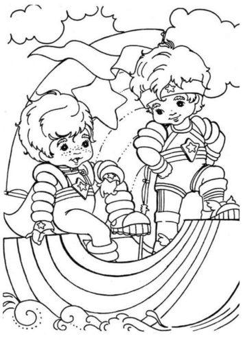 Kids playing on the rainbow