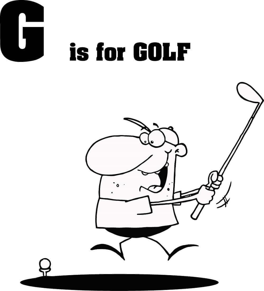 Letter G colouring page