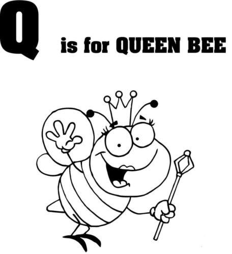 Letter Q coloring picture
