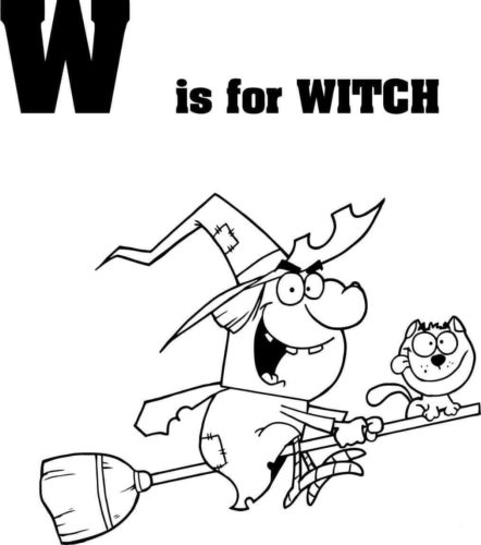 Letter W is for Witch
