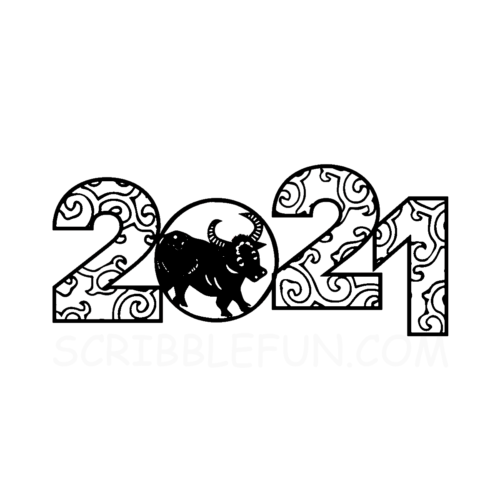 Lunar New Year coloring pages 2021