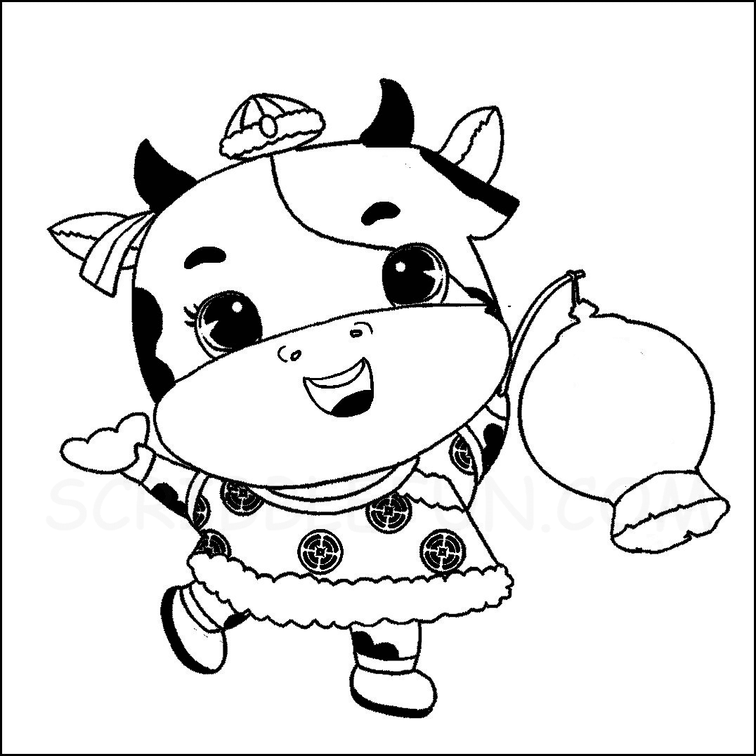 Ox carrying a Chinese Lantern