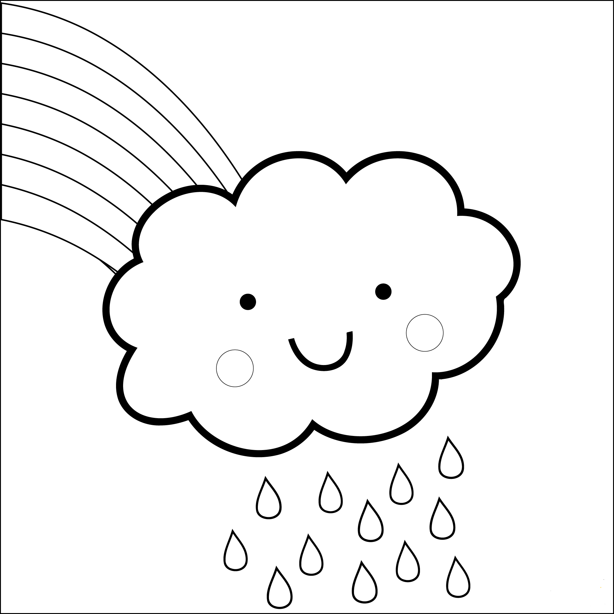 Rainbow and kawaii cloud