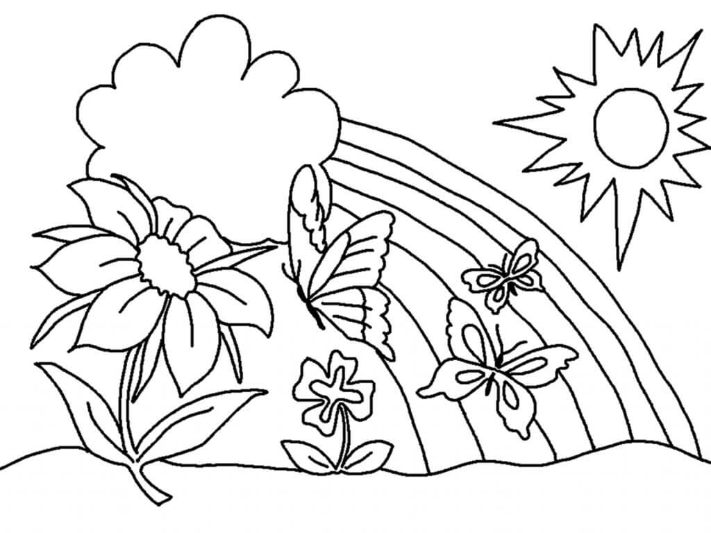 Rainbow coloring pictures to print