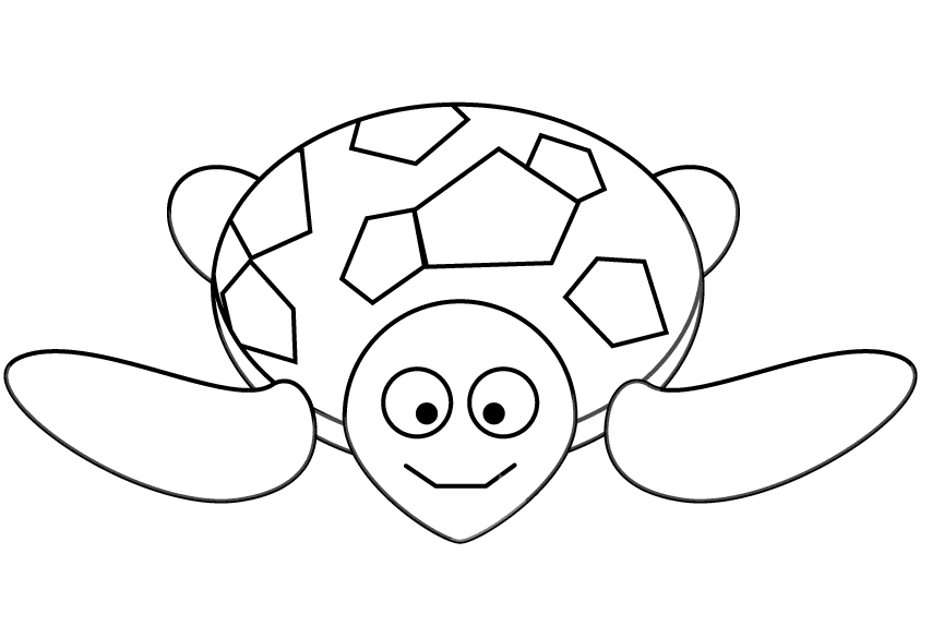 Turtle coloring pages for preschoolers