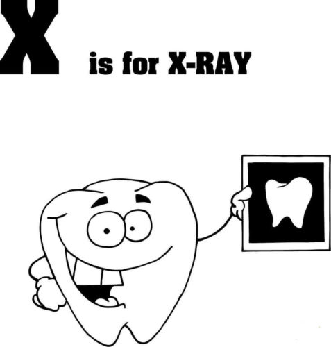 X for X Ray coloring page