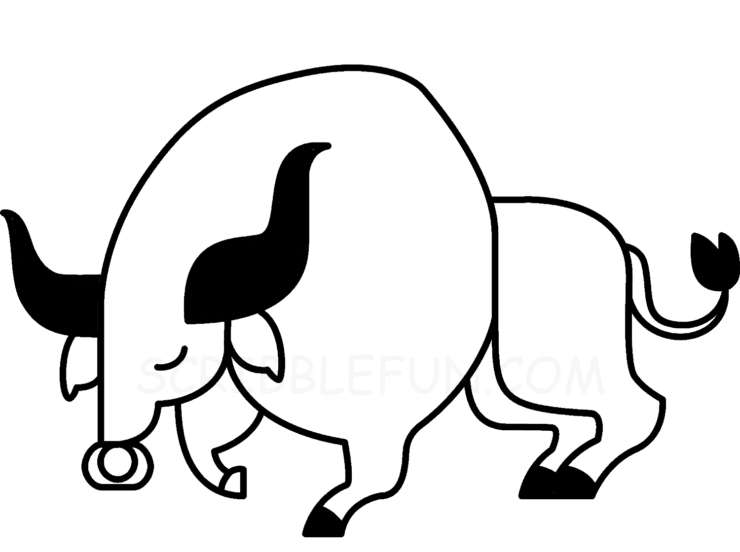 Year Of Ox 2021 coloring page