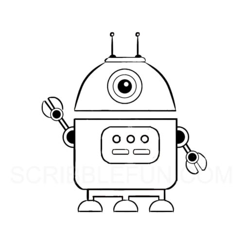 Bot coloring page