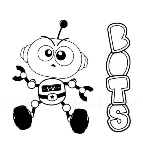 Bots coloring page