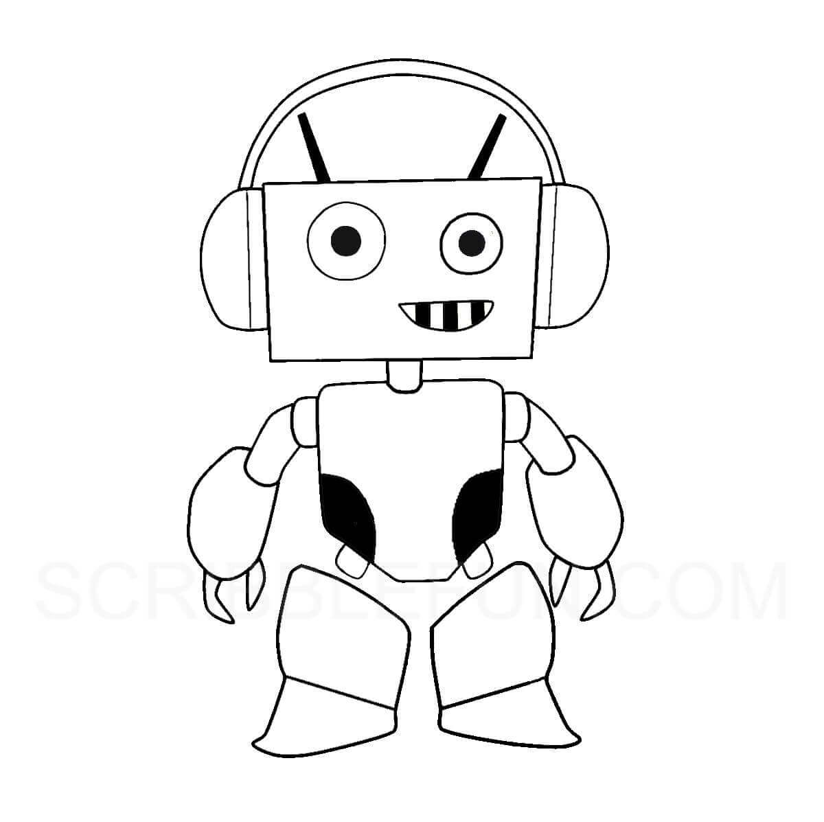 Bots coloring picture