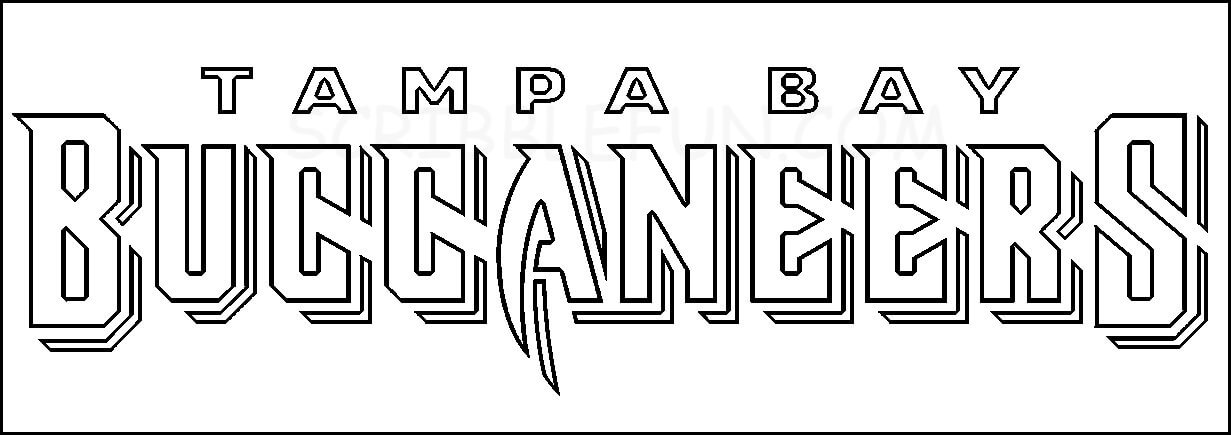 Free Printable Tampa Bay Buccaneers coloring pages