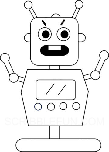 Robot looks agitated