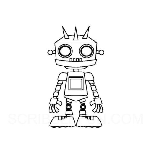 Robot with spikes