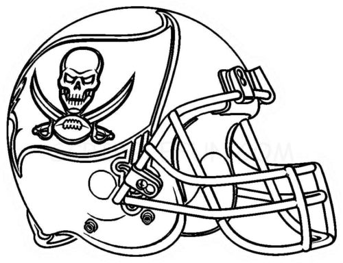 Tampa Bay Buccaneers Helmet coloring page