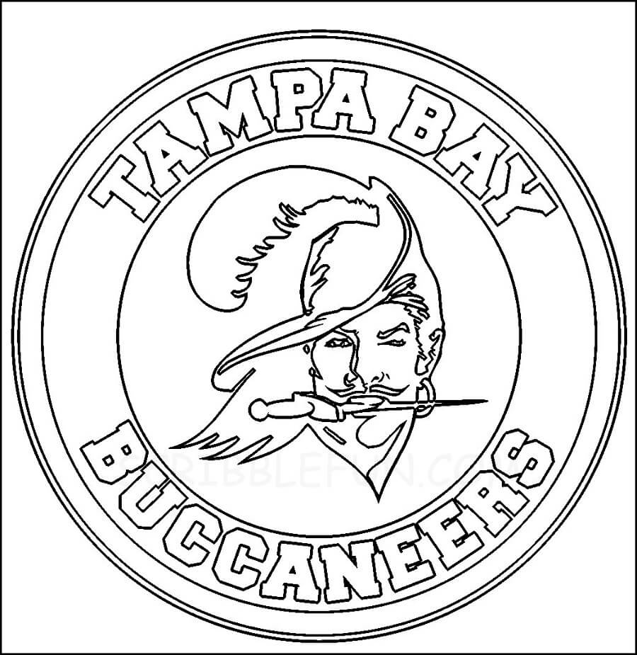 Tampa Bay Buccaneers Logo coloring page
