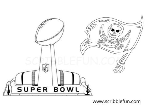 Tampa Bay Buccaneers Super Bowl coloring page