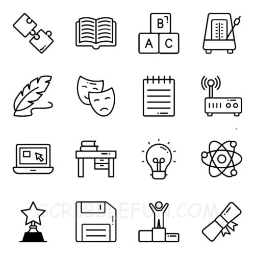 Academic coloring page