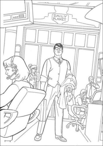 Clark Kent coloring page