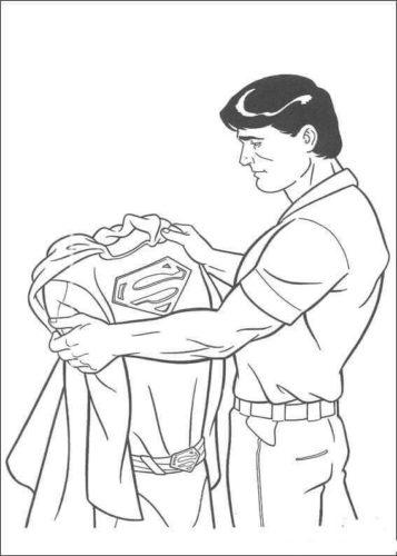 Clark Kent with his Superman suit