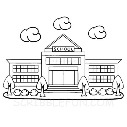 Free printable school coloring pages