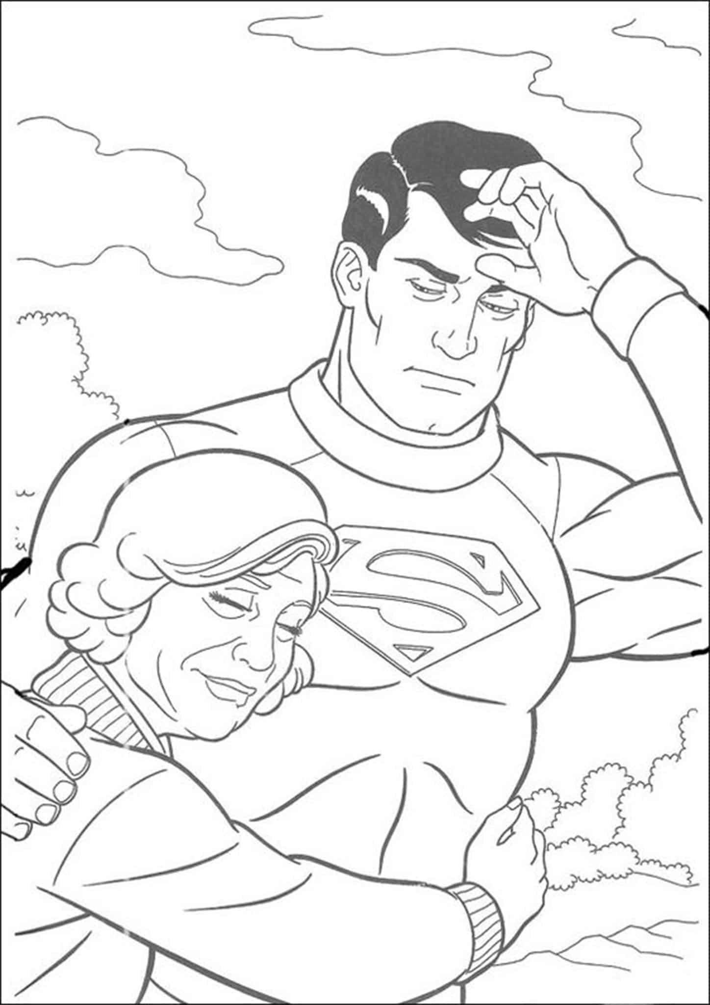 Granny Hugging The Superman