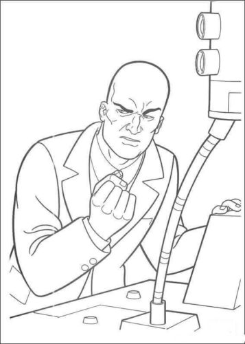 Lex Luthor coloring page