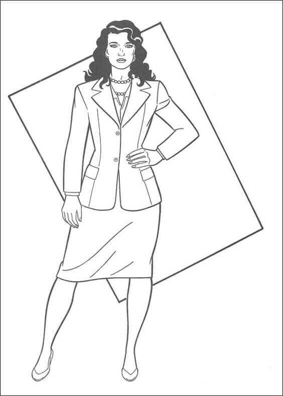 Lois Lane coloring page