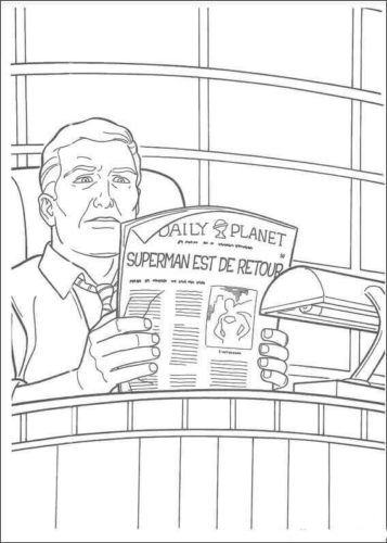 Perry White the Editor in chief of Daily Planet