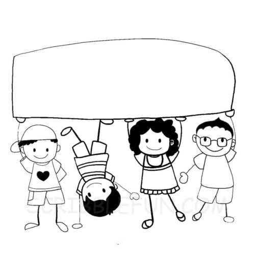 School Kids coloring page