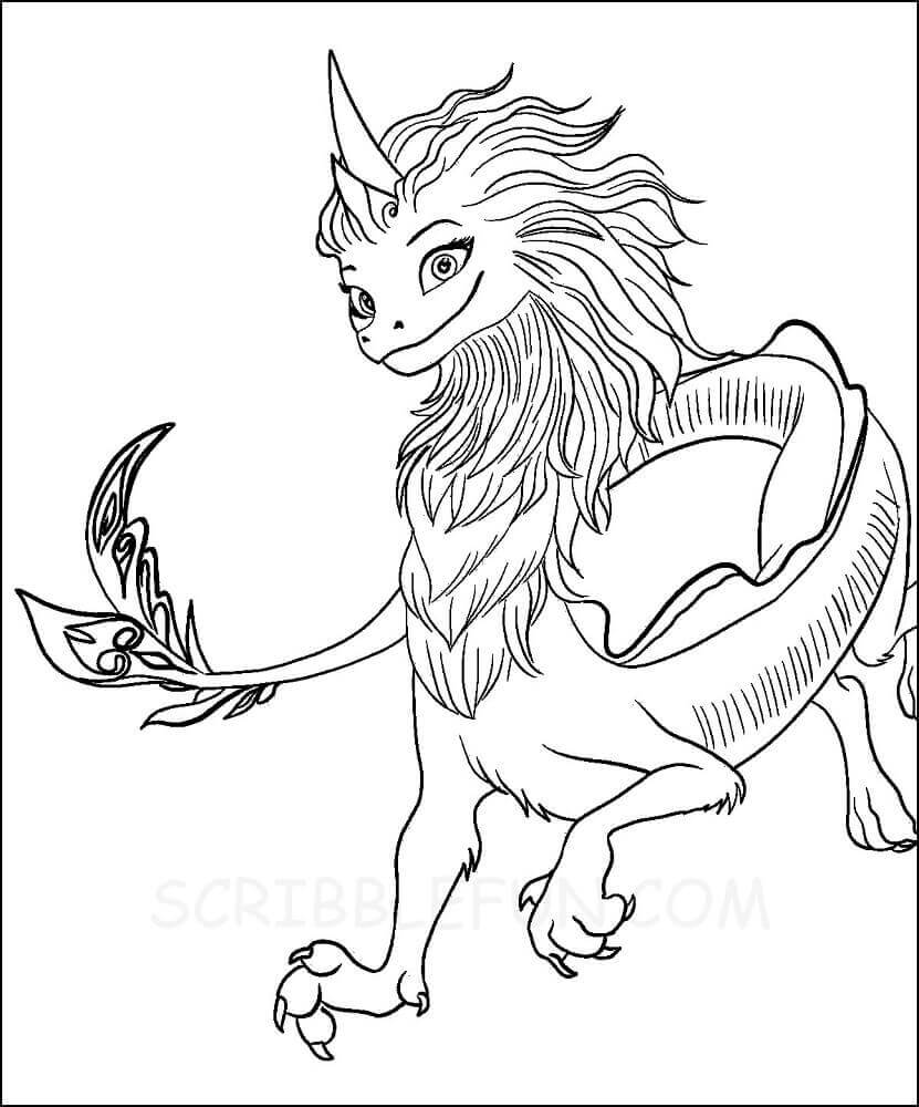 Sisu from Raya and the Last Dragon coloring page