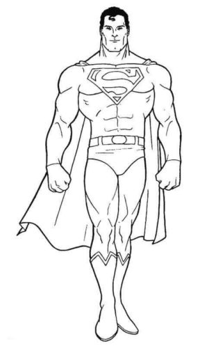 Stately Superman coloring page