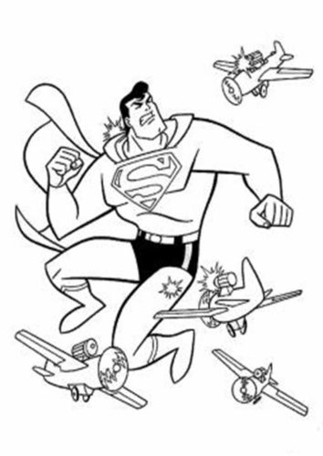 Superman Can Even Fights Planes