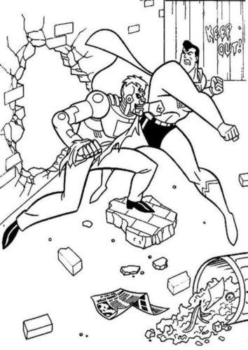 Superman Fighting The Villain