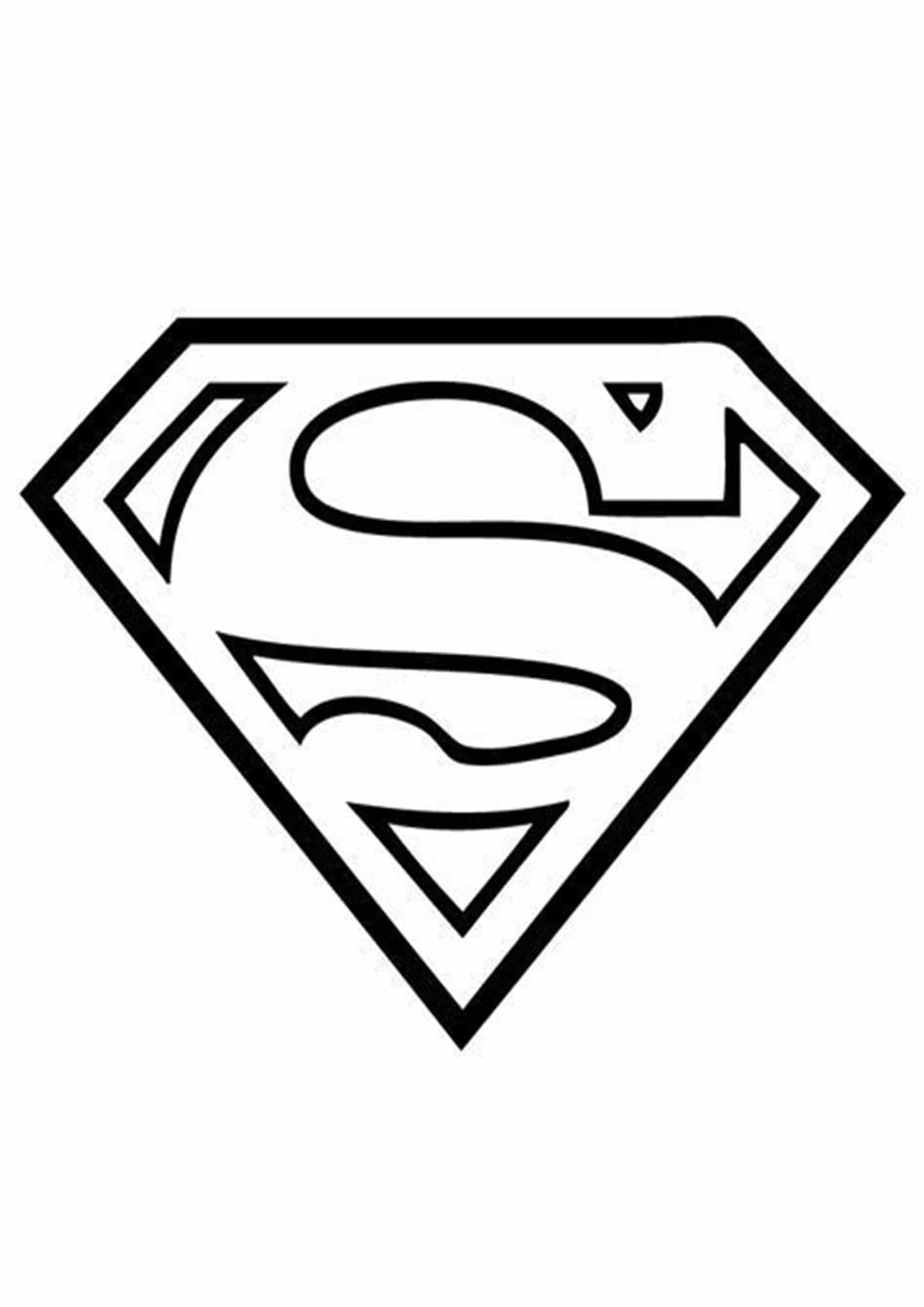 Superman Logo coloring page