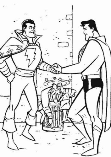 Superman and Flash coloring page
