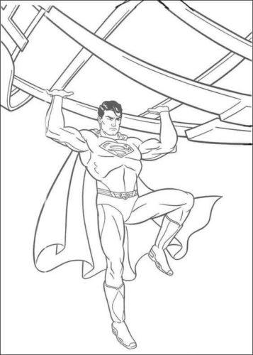 Superman coloring sheets