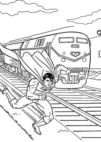 Superman is faster than the train