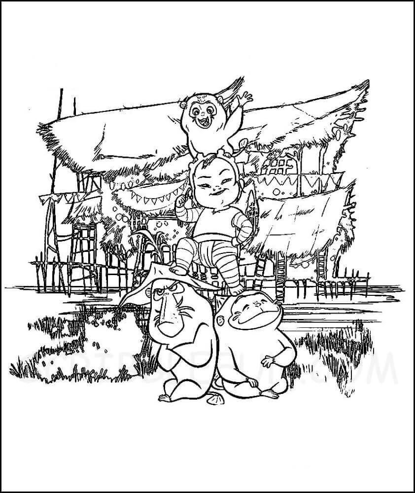The Ongis and Little Noi coloring page
