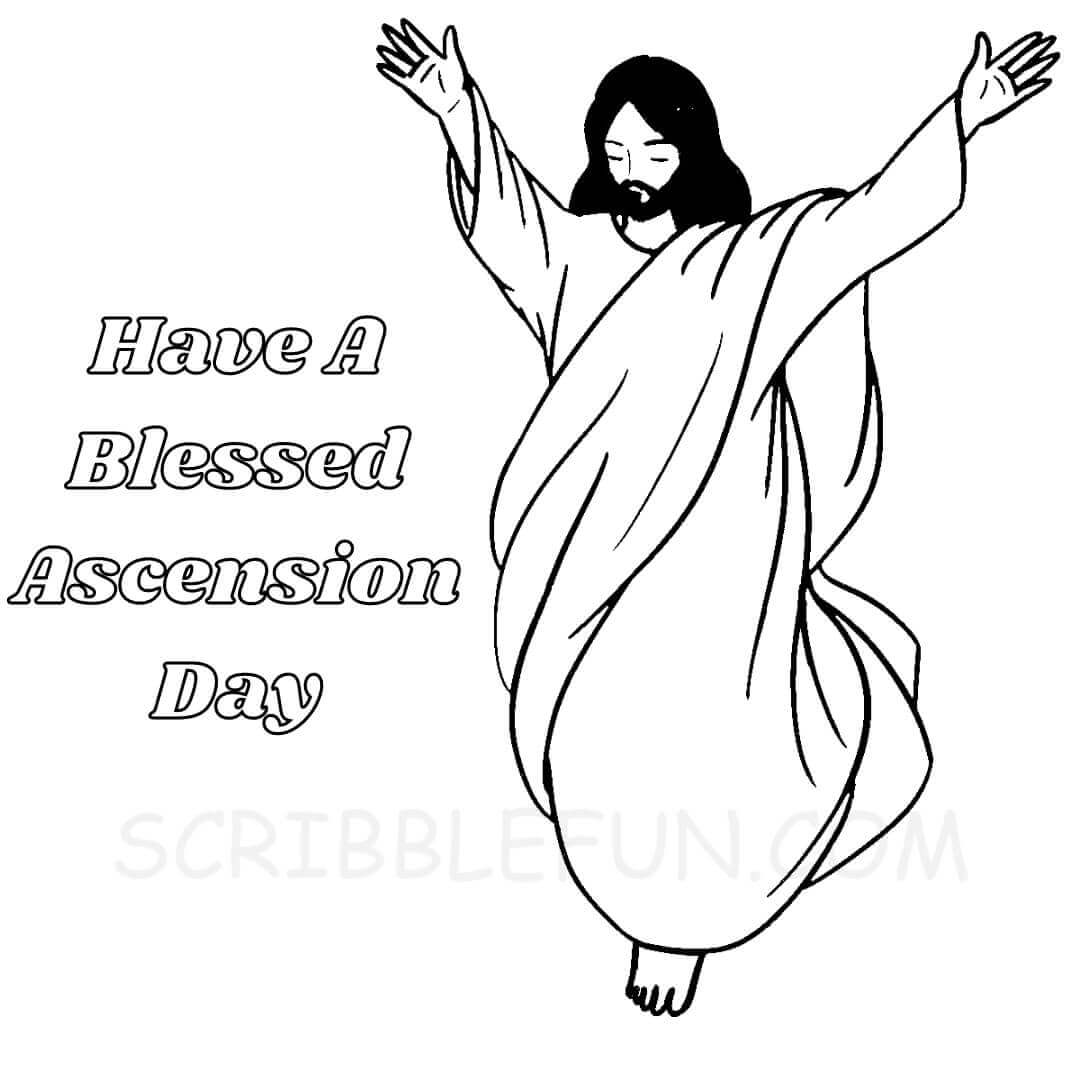 Ascension day coloring page