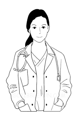 Doctor Community Helpers coloring page
