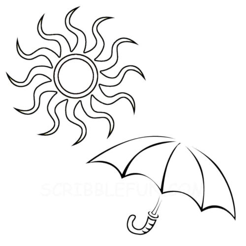 Hot weather coloring page