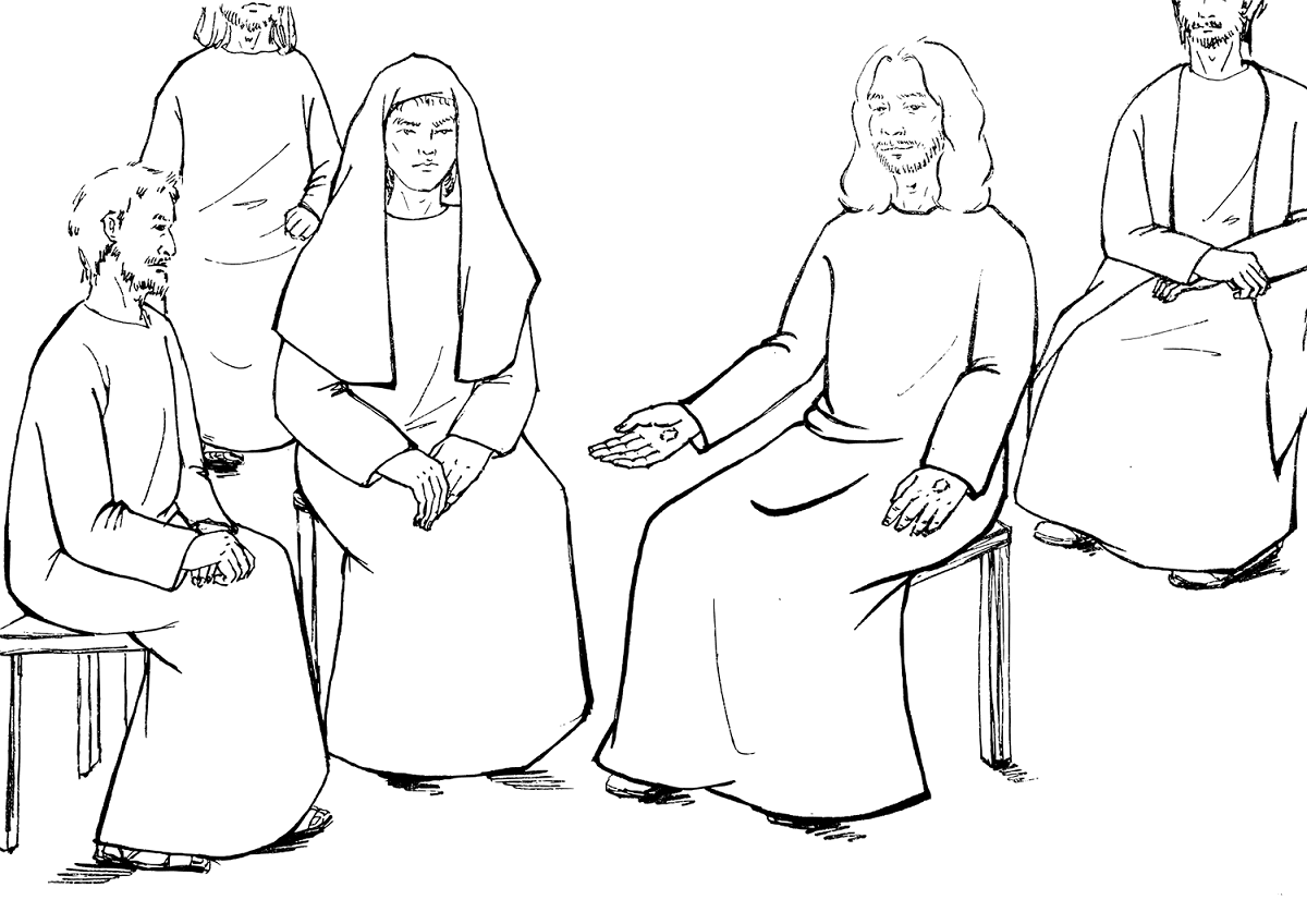 Jesus Appearing In Front Of Apostles